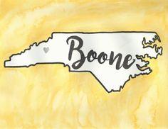 Boone, North Carolina, App State Watercolor