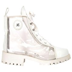 .White. COURREGES white flat boots 1980