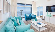 Villa Mar Azul Wohnzimmer mit direktem Wohnbereich Algarve Portugal