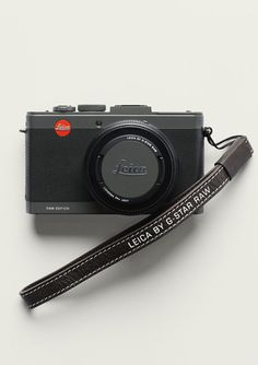 Leica D-Lux Edition by G-Star Raw, in honeycomb  black leather with a brown leather case, available June 20  in G-Star boutiques and on their website,€ 990.