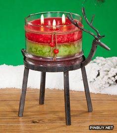 Metal Reindeer Bronze Holder - Christmas Decorations