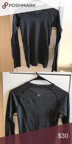 Lululemon Swiftly Tech Long-Sleeved Top Dark grey, size 4. Great condition lululemon athletica Tops Tees - Long Sleeve
