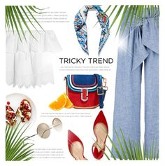 """Tricky Trend: Chic Culottes"" by monazor ❤ liked on Polyvore featuring MSGM, Madewell, Paul Andrew, Marc Jacobs, Cutler and Gross, Dolce&Gabbana, TrickyTrend, culottes and summer2016"