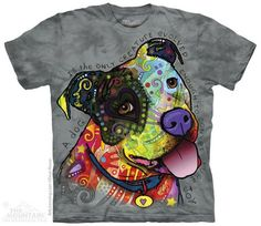 Pure Joy Pit Bull Dog The Mountain Adult & Child Size T-Shirts #TheMountainTShirts #ShortSleeve