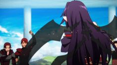 Yuuki after a good duel gif. -- Sword Art Online, SAO, season two, cute, moments, scenes