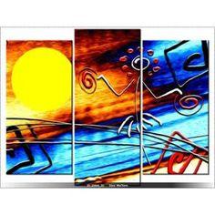 70 x 90cm - DANSE AFRICAINE - ABSTRAIT - TABLEAU MULTI PANNEAUX - MODERNE - DECO - NEW DESIGN - Achat / Vente tableau - toile - Cdiscount