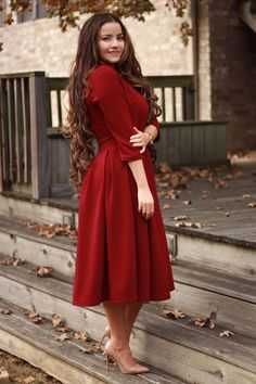 Gorgeous feminine pleated midi skirt outfits ideas for winter 17 Modest Dresses, Modest Outfits, Modest Fashion, Casual Dresses, Fashion Dresses, Classy Fashion, Tunic Dresses, Casual Clothes, Casual Outfits
