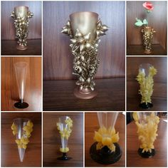 How to make Pasta Decorated Vase step by step DIY tutorial instructions, How to, how to do, diy instructions, crafts, do it yourself, diy website, art project ideas