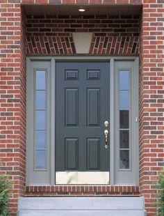 Черные стальные двери в классическом стиле