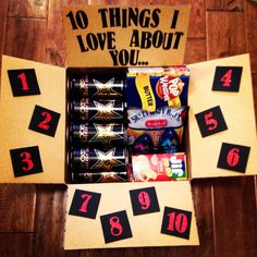 10 things I love about you! Deployment care package