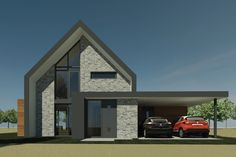 Nieuwbouw schuurwoning | Boerakker - Ontwerp van AL architecten voor een nieuw te bouwen schuurwoning in Boerakker, provincie Groningen.