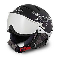 Ski Helmet ELITE LADY, built in visor, crystals too, oh so nice