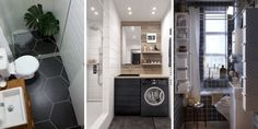 Small Bathroom Design: 34 ideas to copy! - Ikea DIY - The best IKEA hacks all in one place Small Laundry Rooms, Small Bathroom, Closet Renovation, Diy Home, Home Decor, Diy Bathroom Decor, Ikea Bathroom, Home Remodeling, Home Accessories