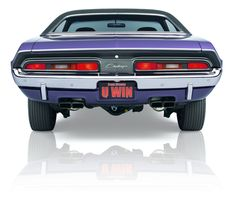 1971 rare Dodge Hemi Challenger rear end.