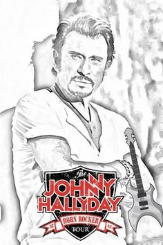 Les 33 Meilleures Images Du Tableau Dessin Johnny Hallyday Sur