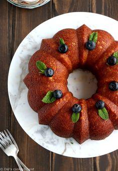 Perfect Lemon Ricotta Bundt Cake | Del's cooking twist Moist Lemon Pound Cake, Lemon Ricotta Pancakes, Lemon Recipes, Easy Cake Recipes, Dessert Recipes, Desserts, Citrus Cake, New Cake, Baking Flour