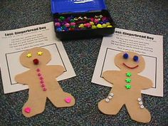 Really great Gingerbread Man activities...