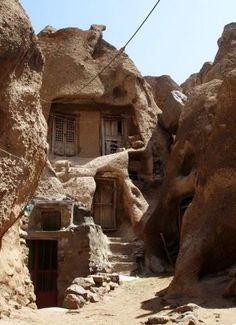 Cave houses (Kandovan/ Iran). Inspiration for the mountain dwellings of the Forgotten Ones.