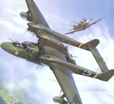 Blohm und Voss seaplane Bv 138 'The Flying sabot'. Bulgaria, August Being attacked by a pair of Airacobras on the Black Sea. Amphibious Aircraft, Ww2 Aircraft, Fighter Aircraft, Military Aircraft, Luftwaffe, Focke Wulf, Aircraft Painting, Airplane Art, Flying Boat