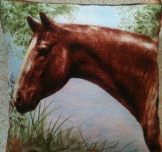 Horse Fabric Lavender Cushion - Handmade