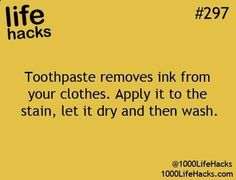 Use toothpaste to remove ink from clothes from Georgia