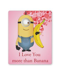 Buy PosterGuy Minion I love you More than Banana Design Mousepad online India