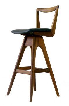 T H BROWN teak bar stool | Flickr - Photo Sharing!