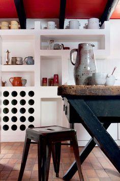 Retro kitchen | More photos petitlien.fr/Iledere