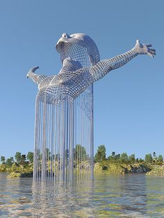 Science Discover Stunning Surreal Digital Art of Chad Knight. Chad Knightss 365 digital art challenge quickly turned into a coded personal journal. Land Art Modern Art Contemporary Art Street Art Instalation Art Urbane Kunst Wow Art Public Art Oeuvre D& Futuristic Architecture, Amazing Architecture, Architecture Design, Architecture Definition, Architecture Portfolio, Famous Architecture, Futuristic Interior, London Architecture, Architecture Quotes