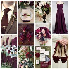 Plum, Marsala, & Sage Green Wedding Inspiration from Burgh Brides
