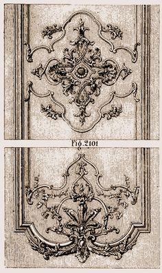Détail de menuiserie fin Louis XIV