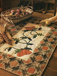 fall country quilt images | ... -In-The-Country-Quilt-Pattern-Pieced-Applique-TG-Fall-Table-Runner