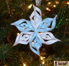 8th Day Of Christmas - 3-d Felt Snowflake Ornament