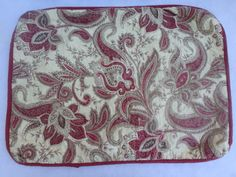 Pair HEDAYA HOME FASHIONS Red Gold QUILTED STANDARD PILLOW SHAMS FLORAL Indienne #HedayaHomeFashions #Quiltedsham