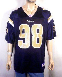 0e2e24190 NWOT Reebok on Field Los Angeles LA St Louis Rams Grant Wistrom Jersey sz L   Reebok  StLouisRams