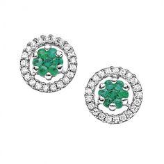 Orecchini in oro bianco con diamanti e smeraldi #CometeGioielli _ Collezione Divina ORB 589