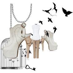 office attire with a twist. (skull stilletos)