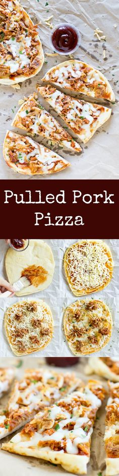Pulled Pork Pizza puts leftovers to work! Use a flatbread crust, barbecue sauce, cheese, and crunchy canned onions for a tasty dinner ready in 10 minutes!