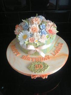 flower bunch cake