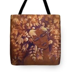 BRONZE BEAUTY Tote Bag for sale by T Fry-Green. $24.50 The tote bag is machine washable, available in three different sizes, and includes a black strap for easy carrying on your shoulder.  All totes are available for worldwide shipping and include a money-back guarantee. #bronzebeauty #bronze #brown #leaves #woman #womansface #fashionbag #tfrygreenart #tfrygreen #homeatlaststudio #art #original #tote #toteart #fineartamerica