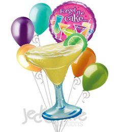 Margarita Forget the Cake Cocktails Happy Birthday Balloon Bouquet $12.49
