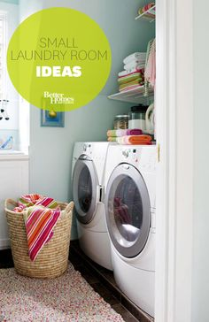 Optimize all of your space with these small laundry room ideas: http://www.bhg.com/rooms/laundry-room/makeovers/small-laundry-room/?socsrc=bhgpin012314smalllaundryrooms