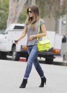 Love the black booties and jeans