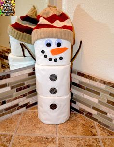 Toilet Paper Snowman Craft - make one for each bathroom (each child can make one and so can I!)