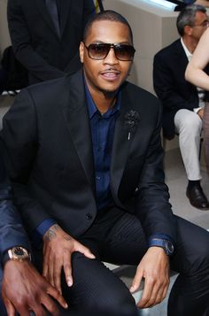 Dwyane Wade and Carmelo Anthony Attend Versace Spring/Summer 2012 Milan Fashion Show | UpscaleHype
