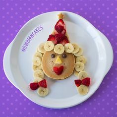 This pancake princess is the perfect #FunWithFood idea for a birthday party or after school snack!
