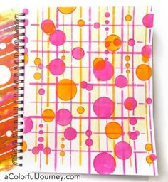 via  Carolyn Dube   These layering stencils can create so many patterns just by using the 2 parts on one stencil!