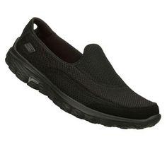 Skechers Go Walk 2 Slip On Black. #SVSports #Skechers #GoWalk