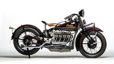 1934 Indian Four Cylinder presented as lot F27. #Mecum #EJCole #Motorcycles