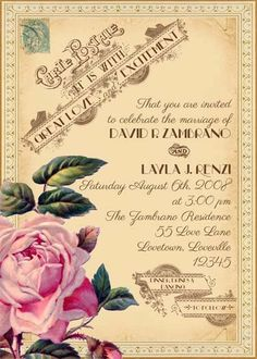 Gorgeous French inspired wedding invitation